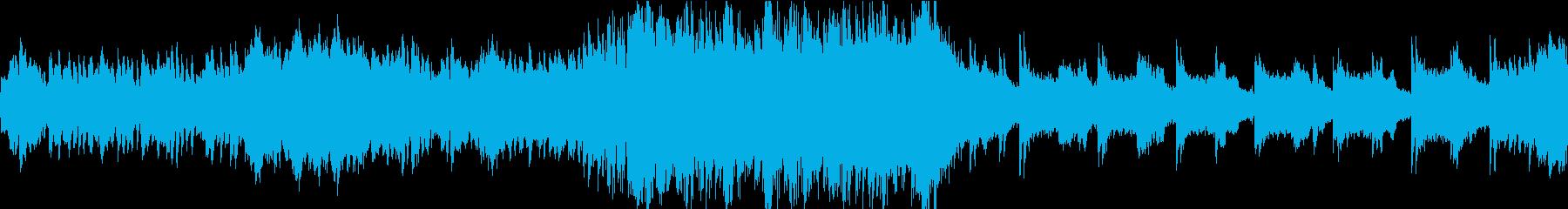 和風で不思議な雰囲気の曲の再生済みの波形