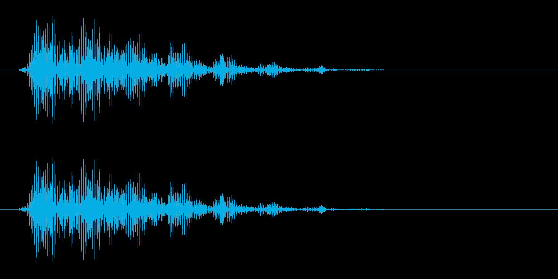 プッ(シンプルで電子的な決定音)の再生済みの波形