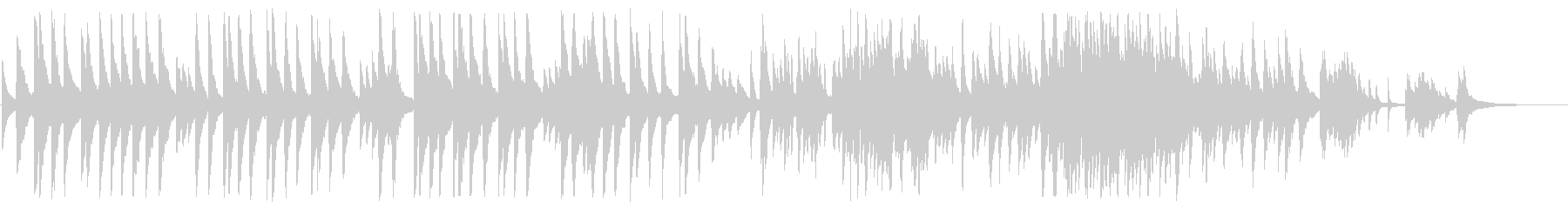 「蛍の光」ピアノカバーBGMの未再生の波形