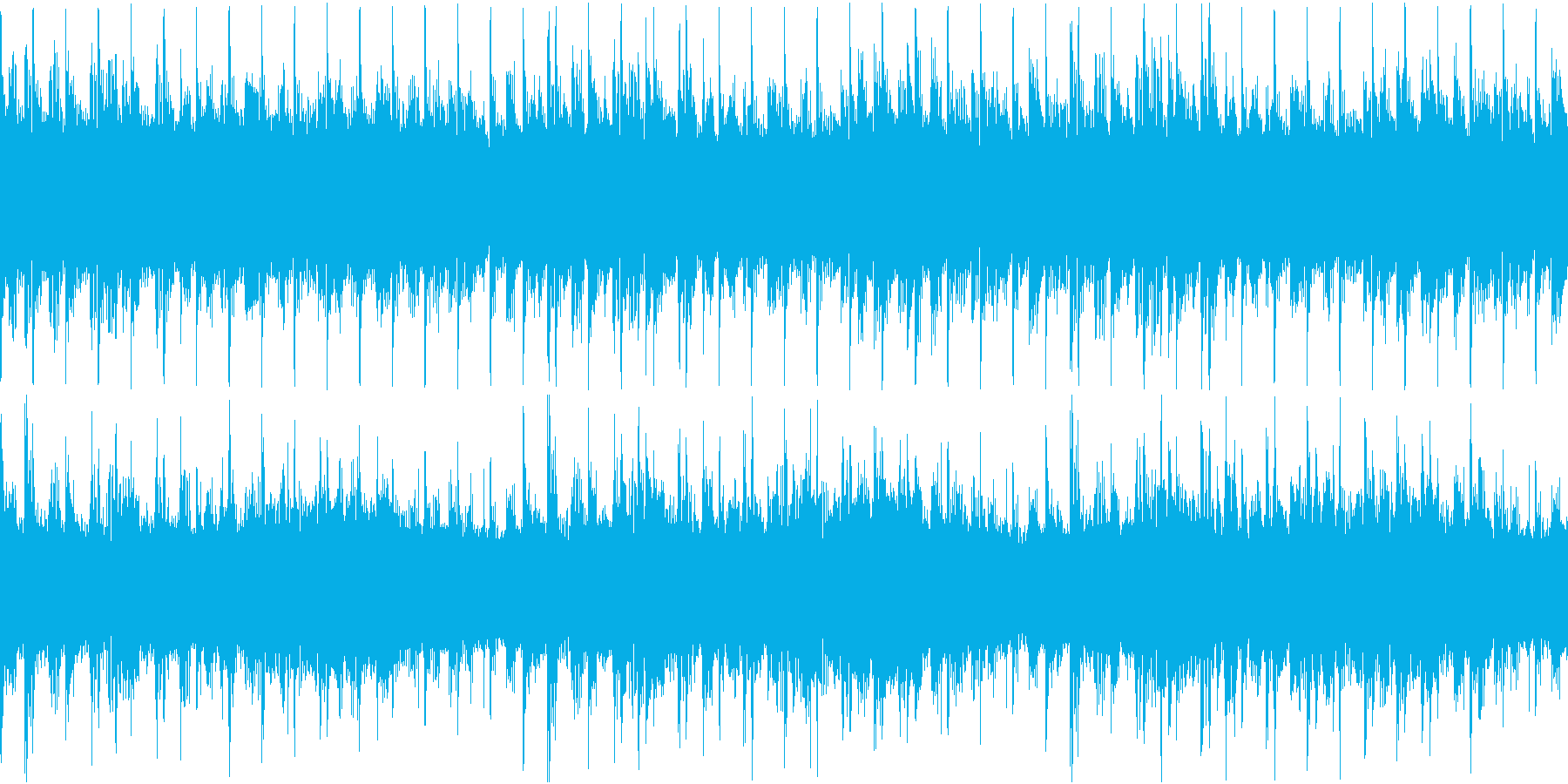 近未来的でサイバー感のあるBGMの再生済みの波形