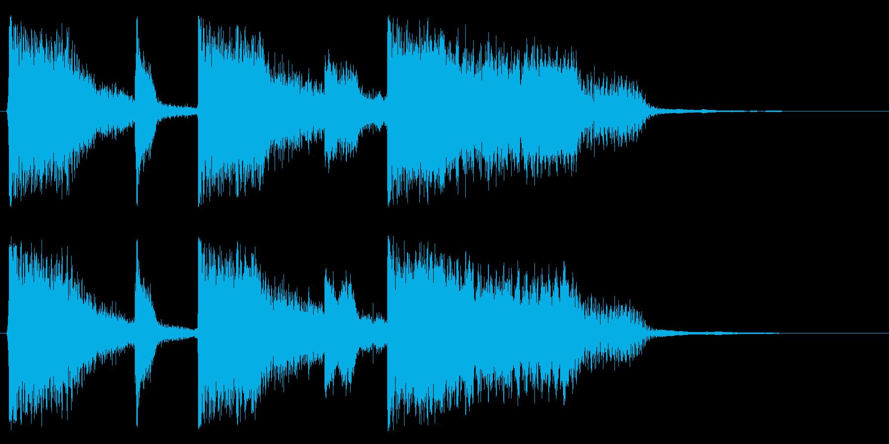 コミカルでキャッチーなポジティブジングルの再生済みの波形