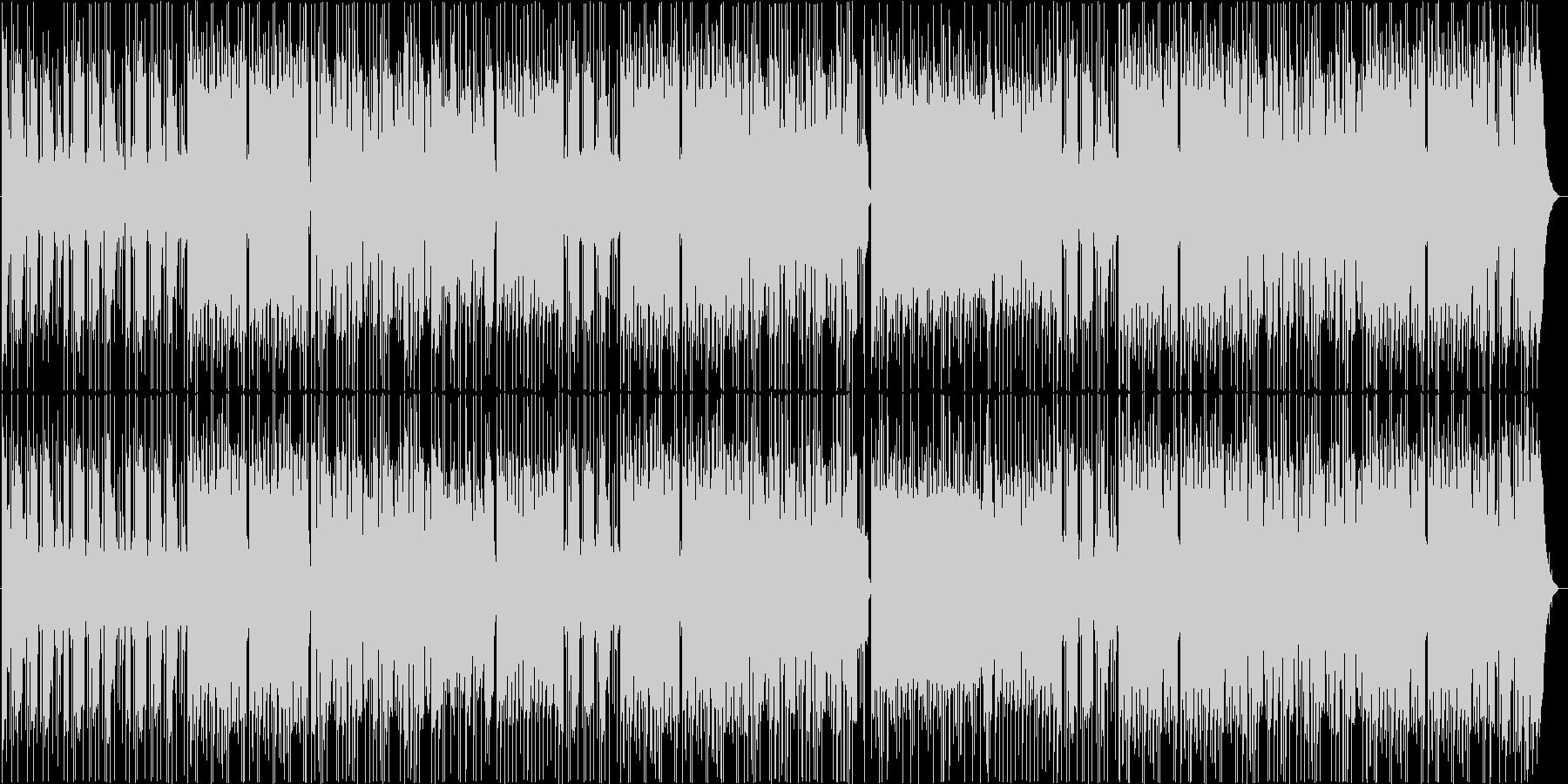 激しさと力強さのロック系インストの未再生の波形