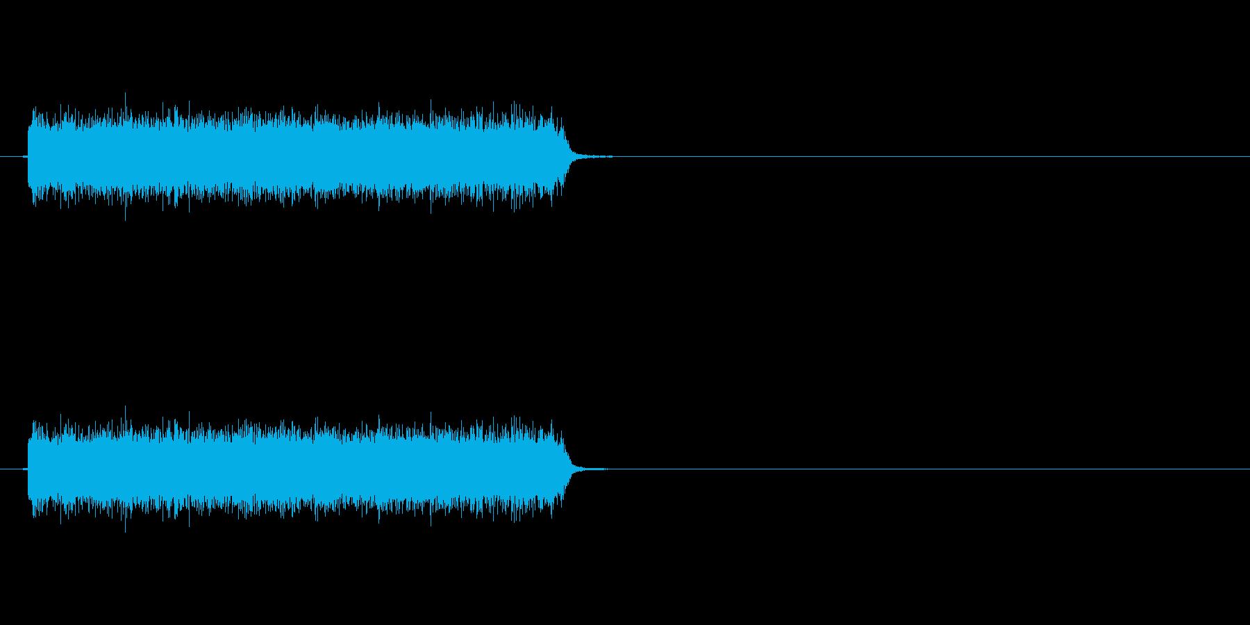 ロック曲等に使えるエレキギター効果音2の再生済みの波形