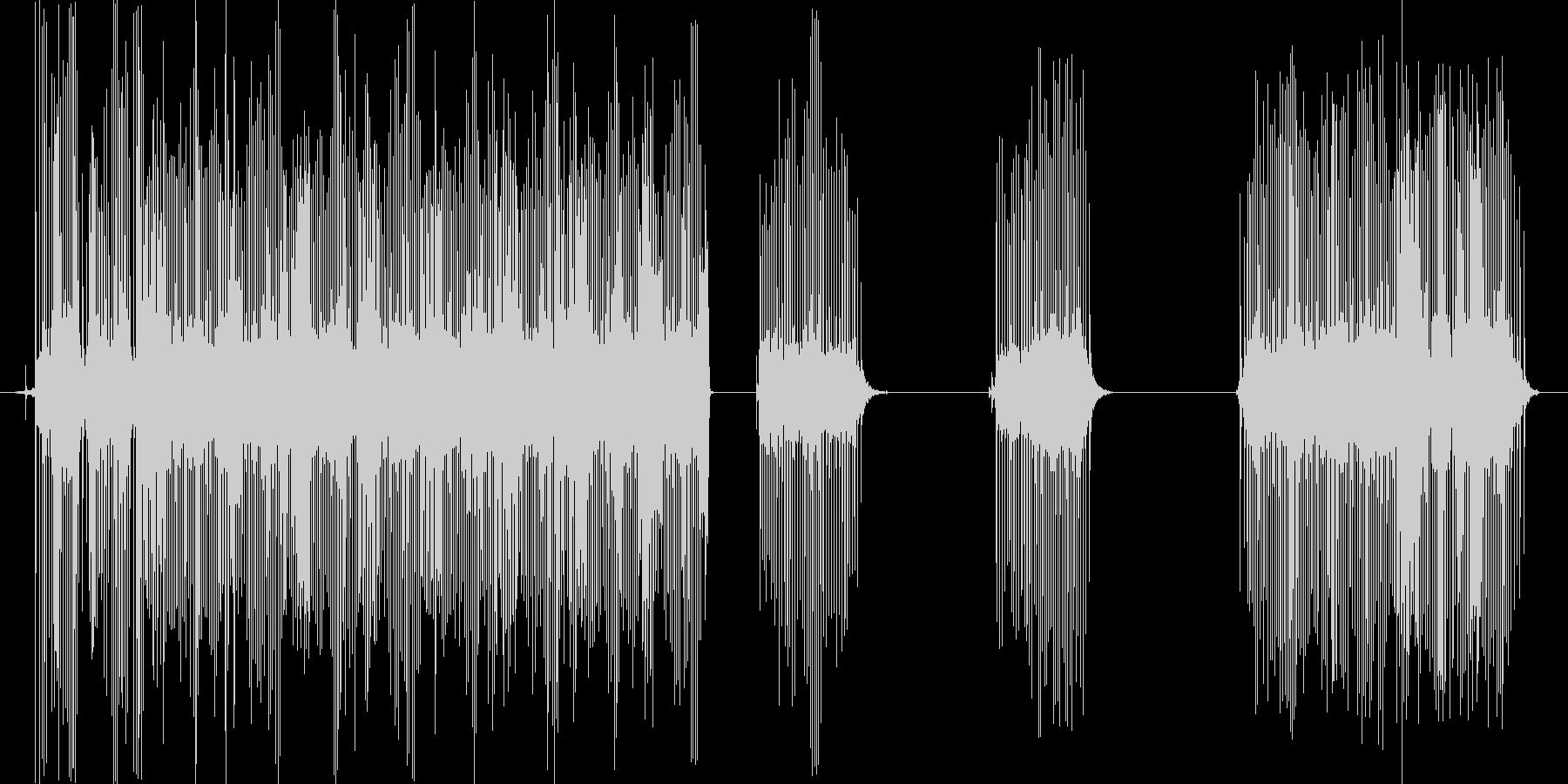 釣りのリールの音、キリキリと糸を巻く音の未再生の波形