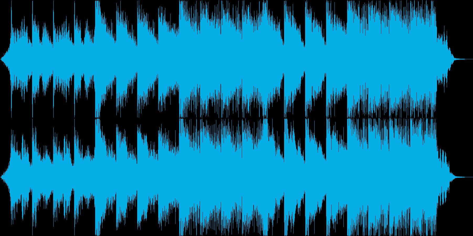 荘厳で派手なハリウッド系オーケストラの再生済みの波形