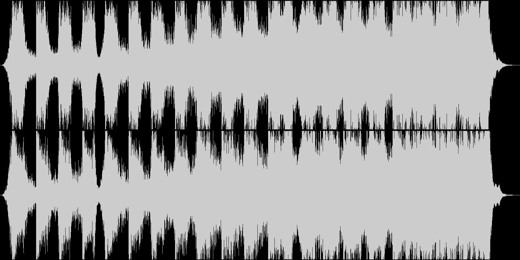 迫力ある映画のティーザー風楽曲の未再生の波形
