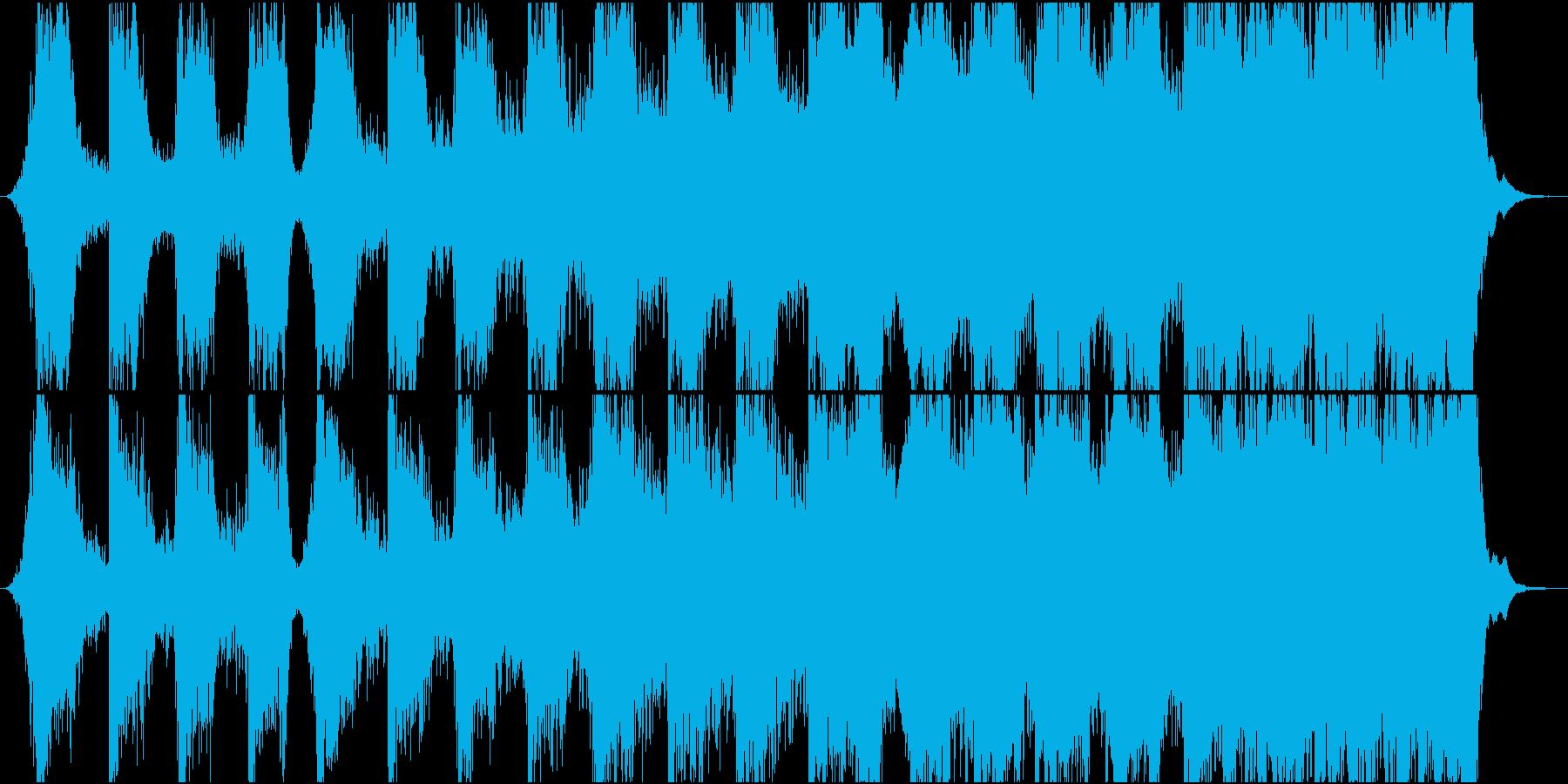 迫力ある映画のティーザー風楽曲の再生済みの波形