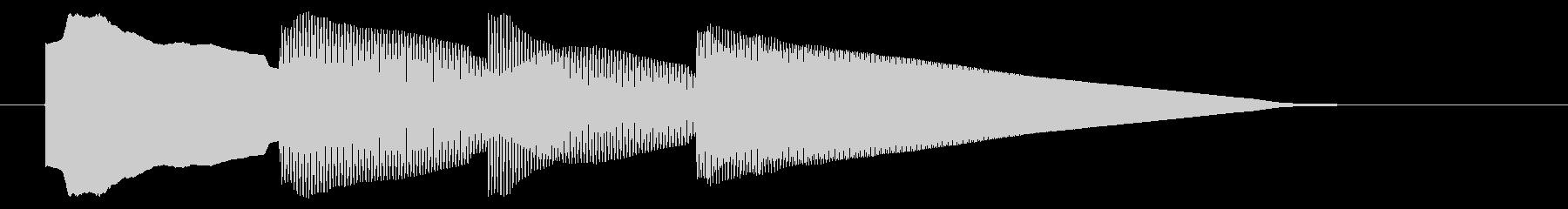チャイム アナウンス06-1の未再生の波形