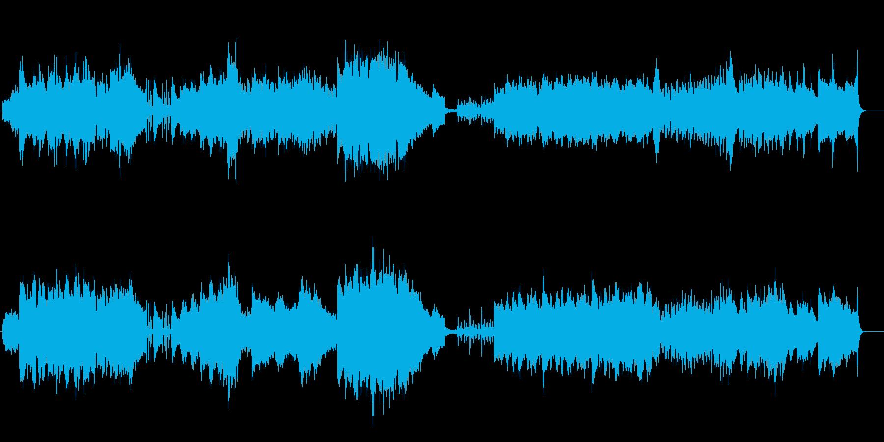 綿密に組み上げられたオーケストラサウンドの再生済みの波形