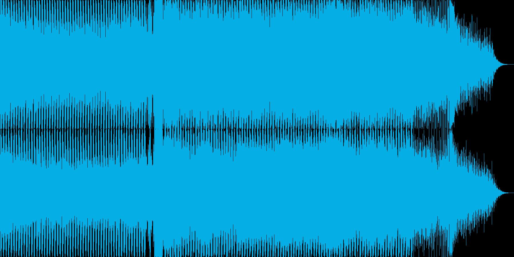 盛り上がりが派手な4打ちのトランスの再生済みの波形