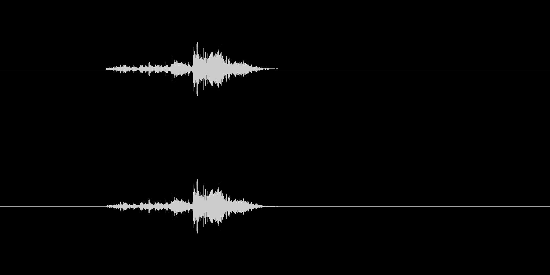 チャリッ(金属音、武器を装備したりの音)の未再生の波形