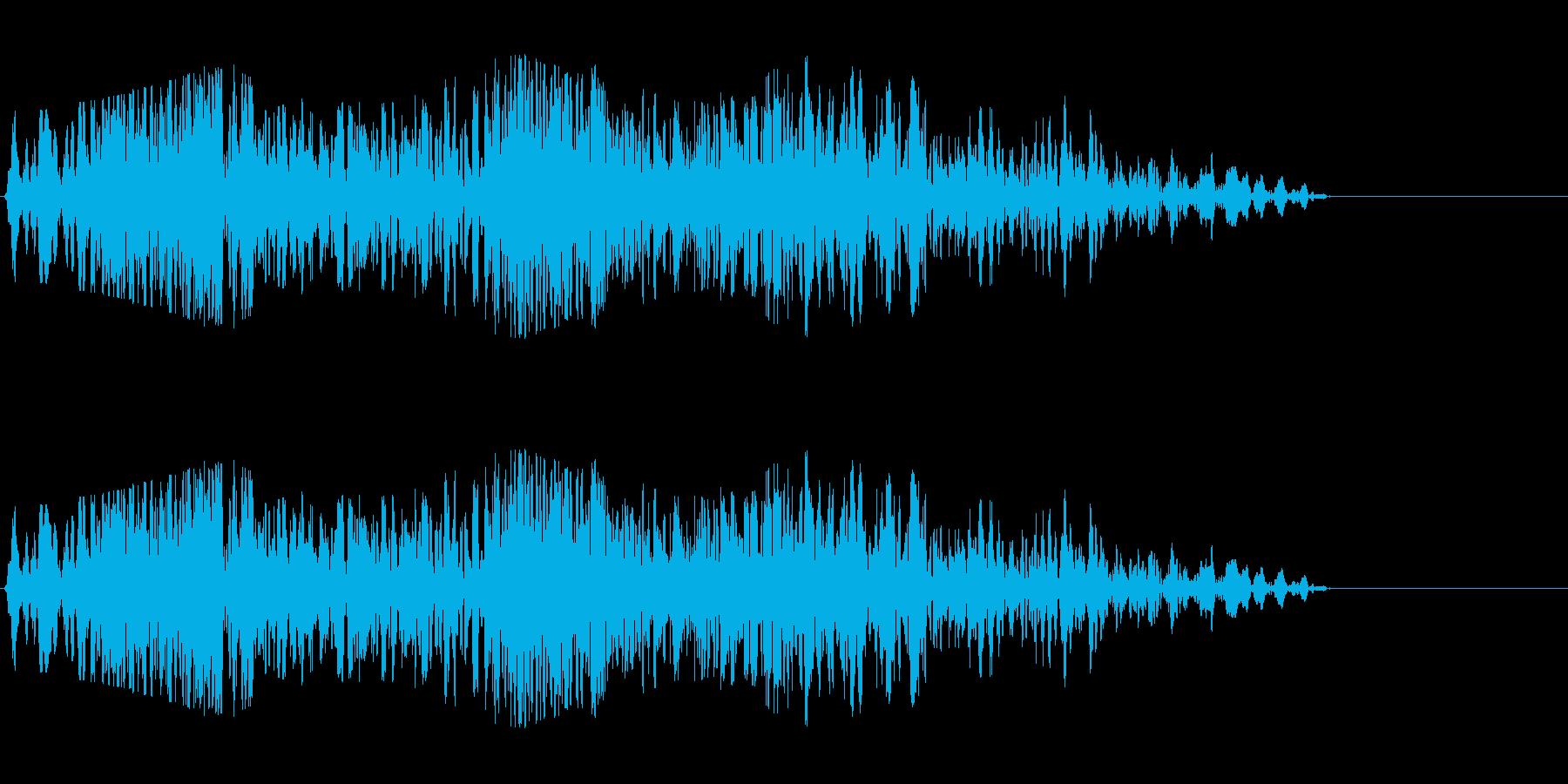 吹き込む風2の再生済みの波形