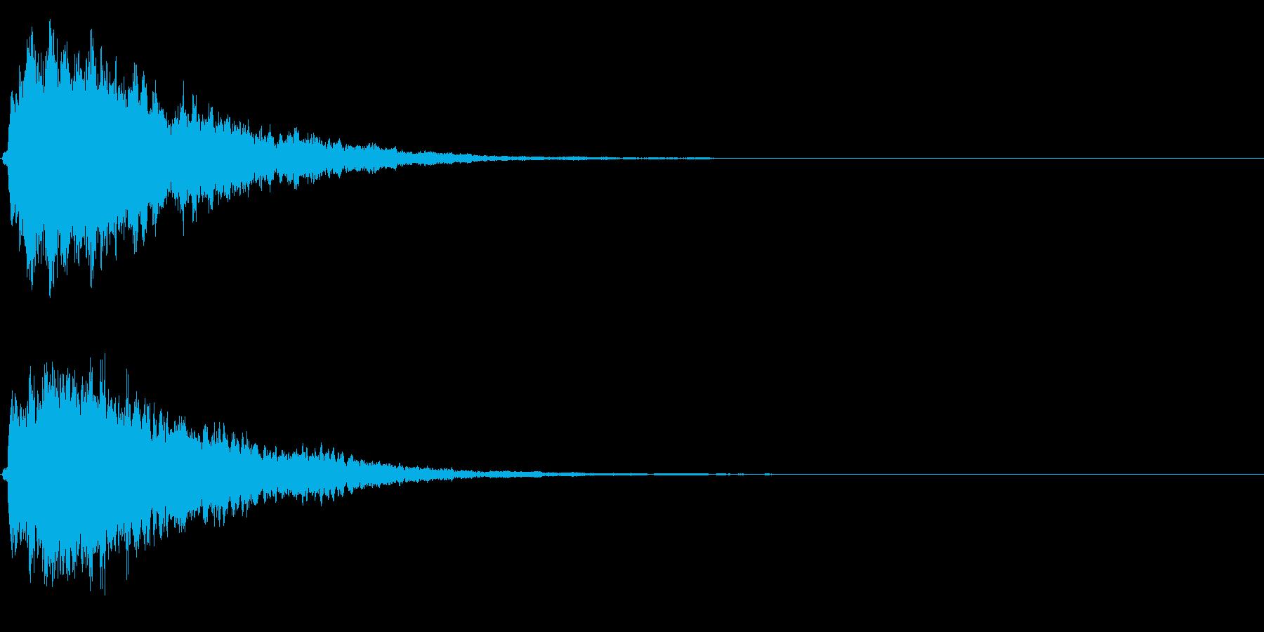 キラキラ輝く テロップ音 ボタン音!02の再生済みの波形