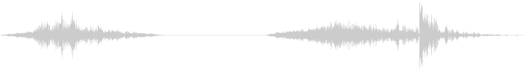 襖の開閉5(速度早め)の未再生の波形