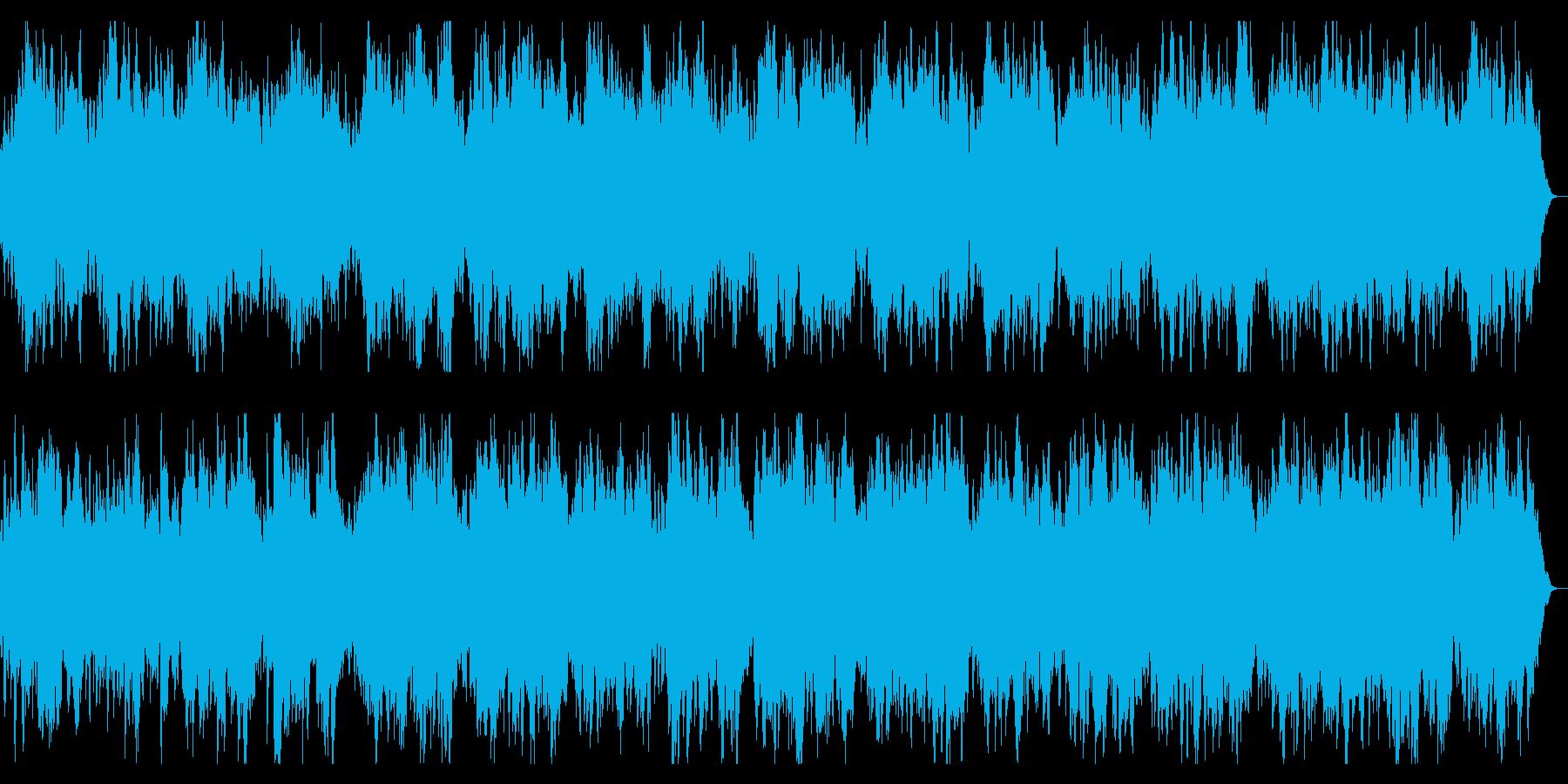 ダークなストリングスとアルペジオのBGMの再生済みの波形
