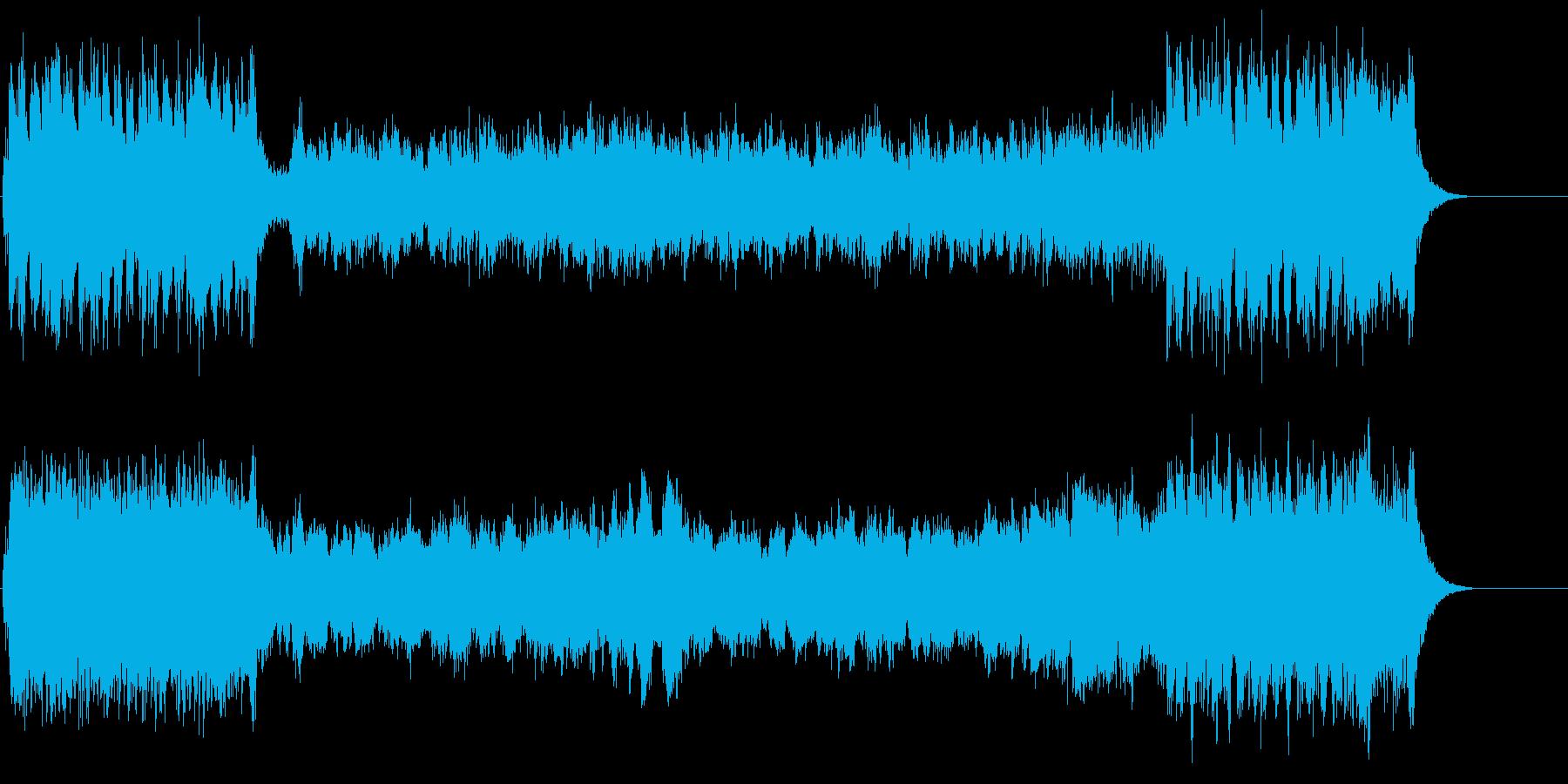 ファンファーレ調オープニングの再生済みの波形