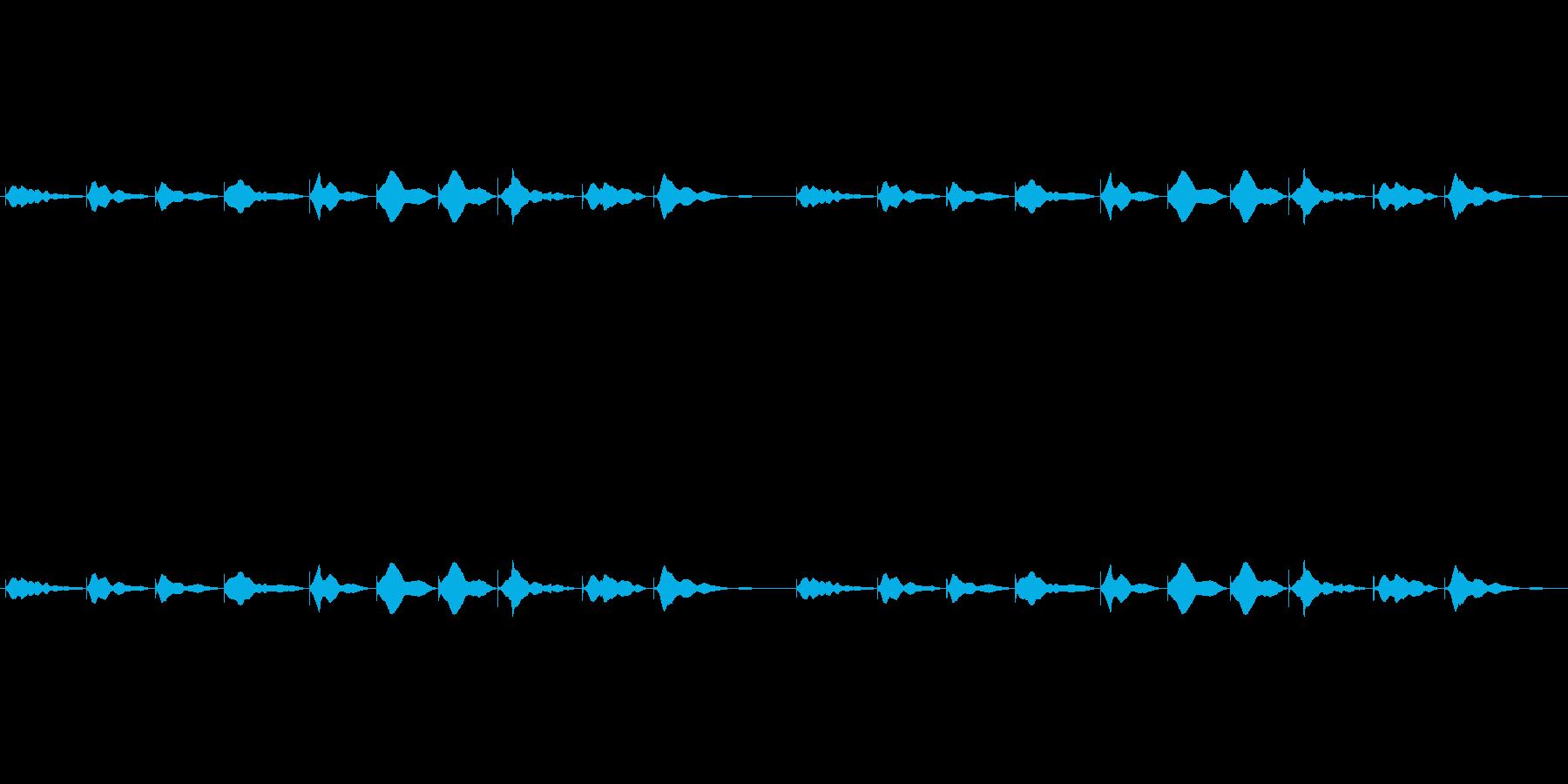 528hzの音叉 ソルフェジオ周波数の再生済みの波形