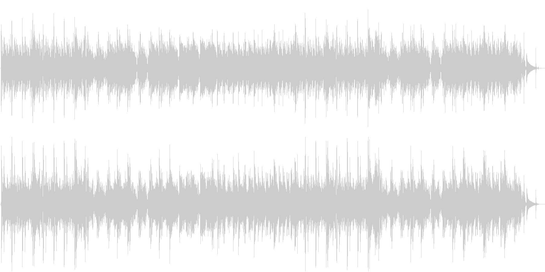 アウトドアのワイルドソロギターの未再生の波形