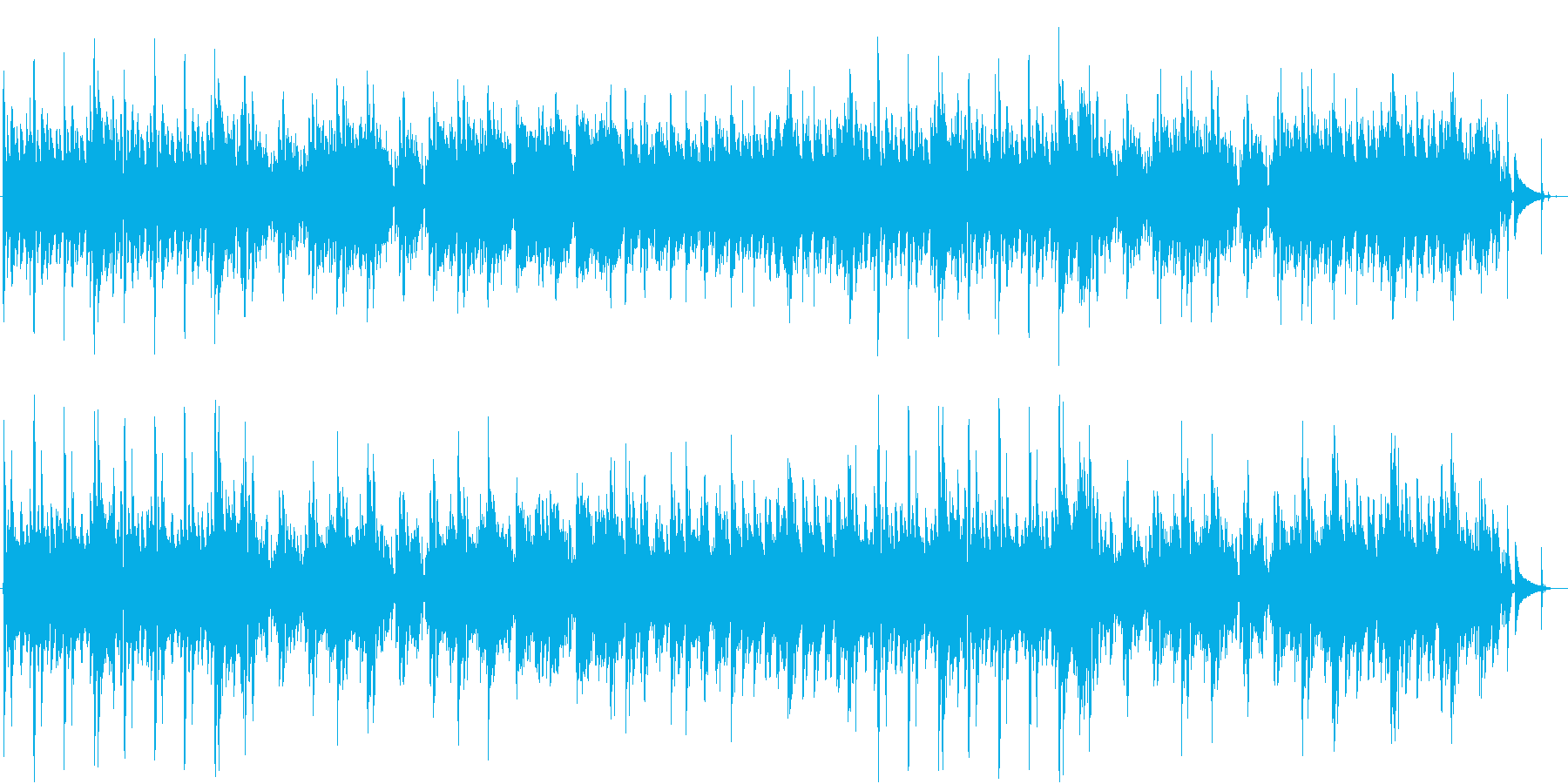 アウトドアのワイルドソロギターの再生済みの波形