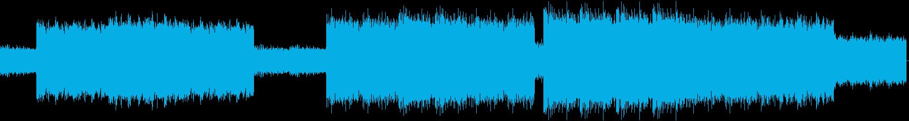 速くスパルタなロッテルダムテクノの再生済みの波形
