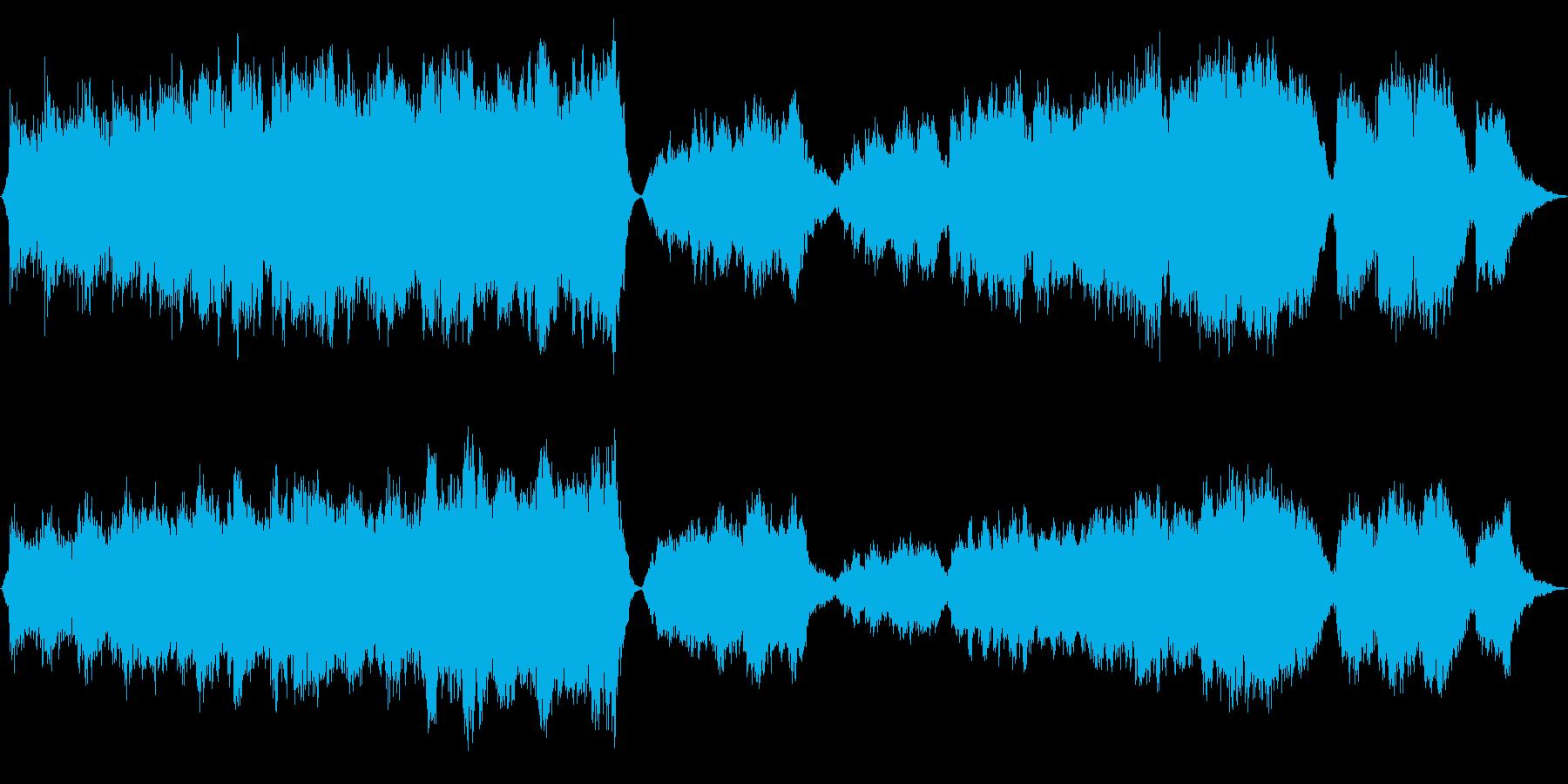 ドラマチックなニューエイジオーケストラの再生済みの波形