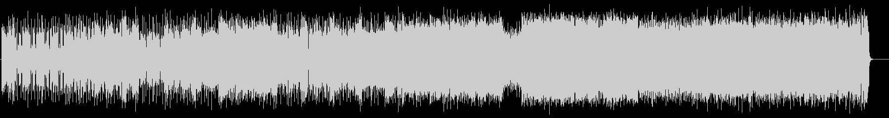 ハイテンションなリフとグルーブのファンクの未再生の波形