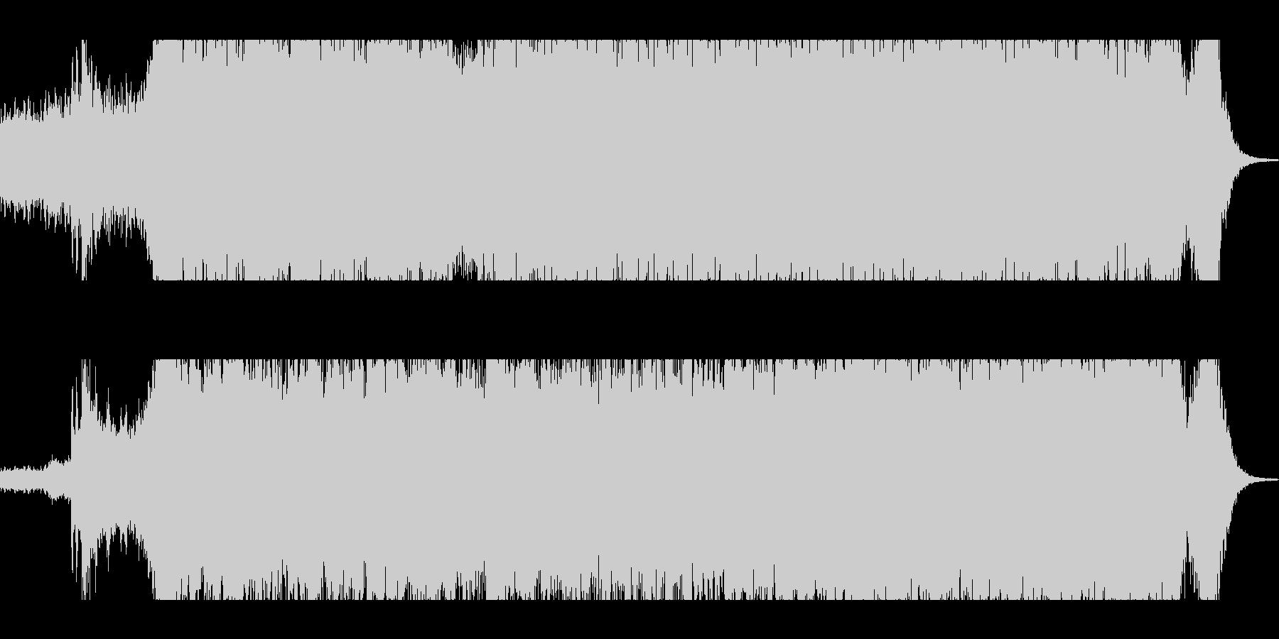 ゲーム/映画:ヘビーギター+オーケストラの未再生の波形