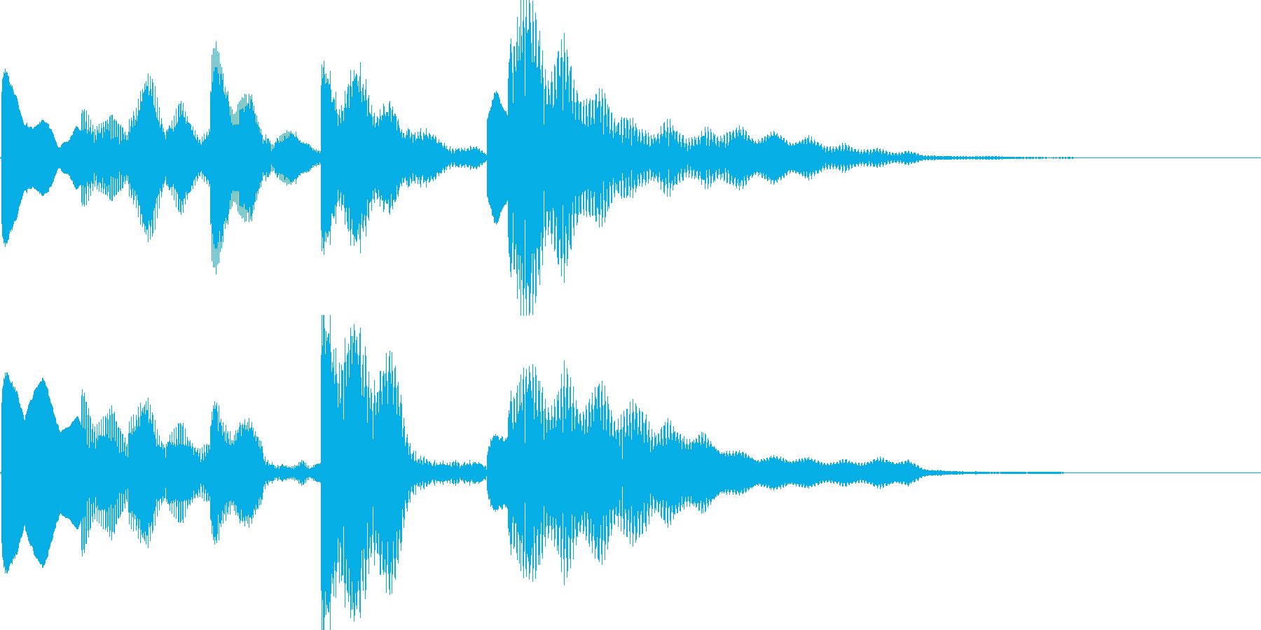 小休止のタイミングでをイメージしましたの再生済みの波形