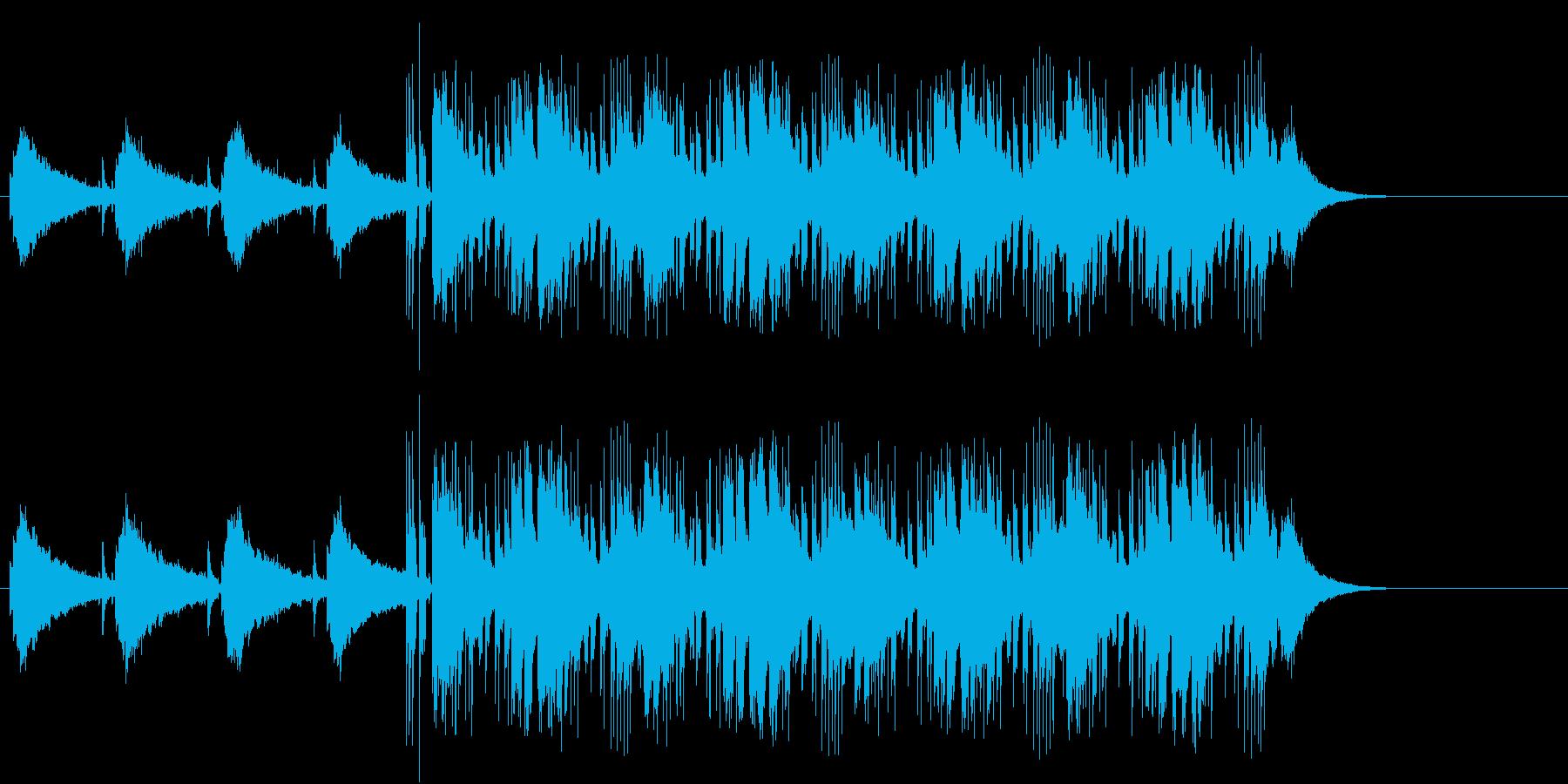 追跡感のあるマイナー・テーマ・ポップスの再生済みの波形