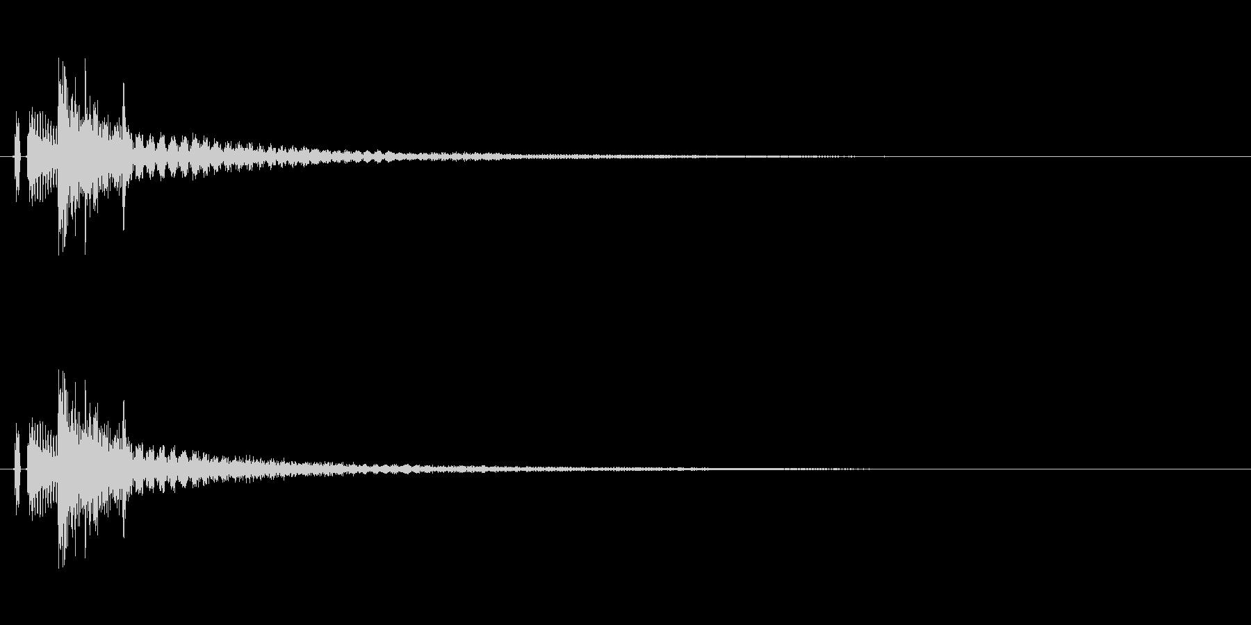 タッチ決定クリック、ボタン音に最適01!の未再生の波形