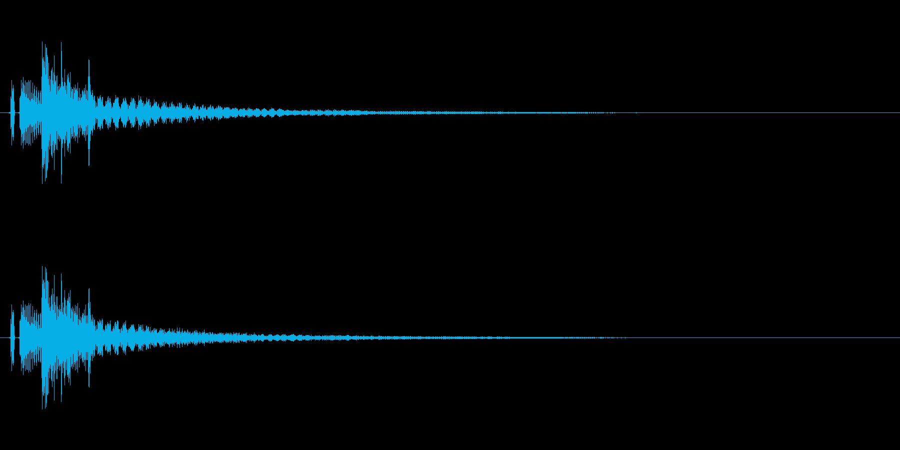 タッチ決定クリック、ボタン音に最適01!の再生済みの波形