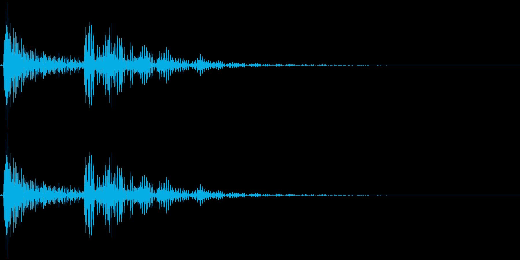 〖野球〗木製バットを落とす/転がす01の再生済みの波形