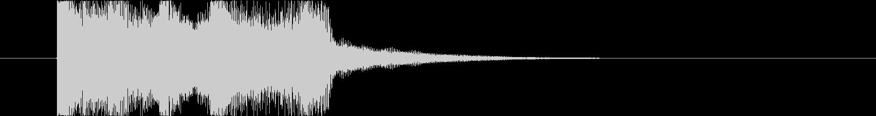 「ピンポン!」正解用の効果音ジングル。の未再生の波形
