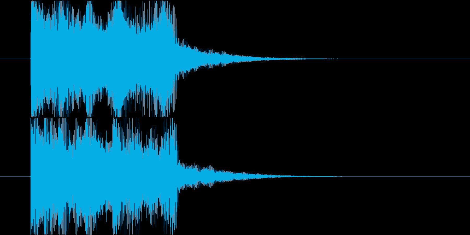 「ピンポン!」正解用の効果音ジングル。の再生済みの波形