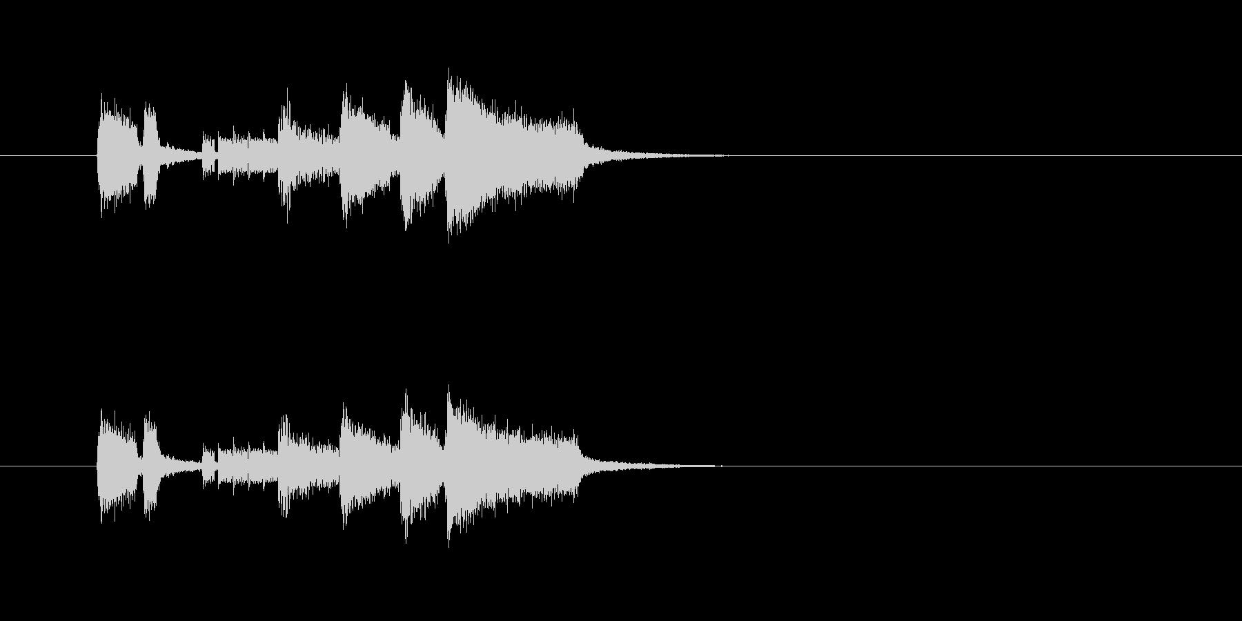 ベース 華やか パワフル 明るいの未再生の波形