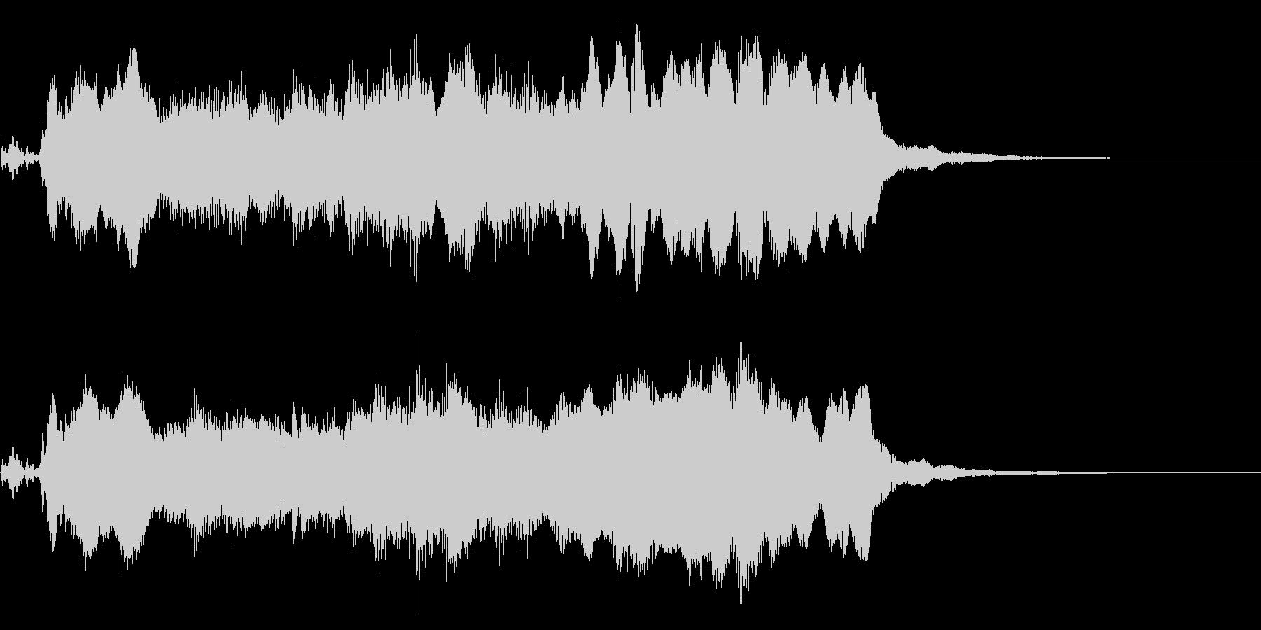 ケルト風 素朴でファンタジックなジングルの未再生の波形