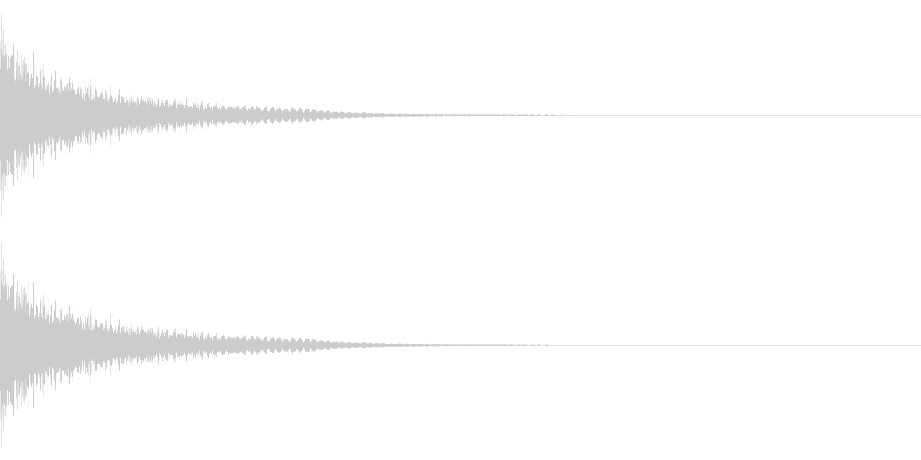 ドーン+シューン(消滅/消え去る)の未再生の波形