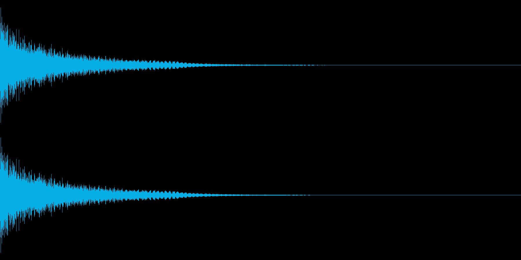 ドーン+シューン(消滅/消え去る)の再生済みの波形