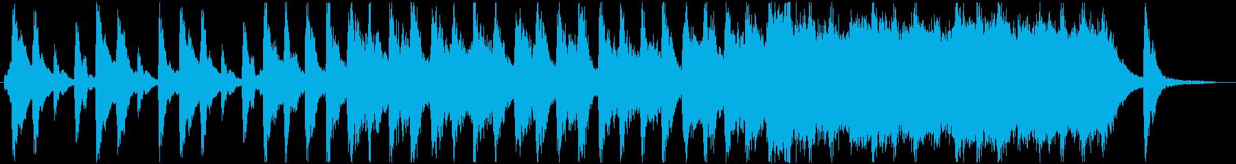 ホラー調のかわいいコミカルな曲ですの再生済みの波形
