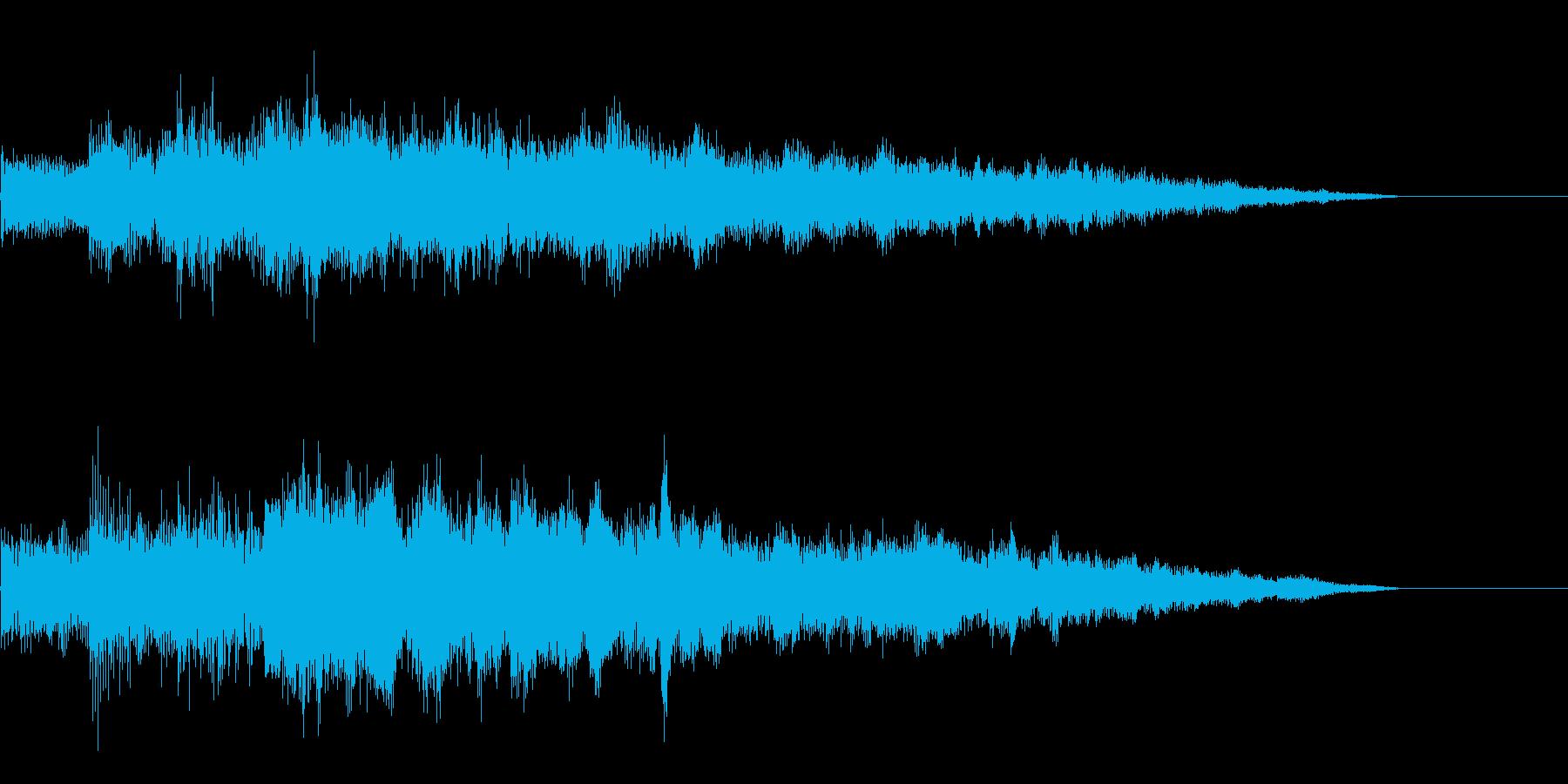 レベルアップ ぴろりろーん(上昇)の再生済みの波形
