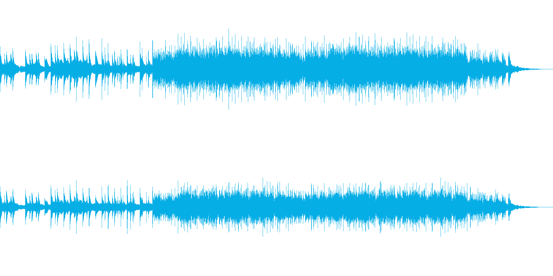 切なく暖かいヒーリングピアノの再生済みの波形