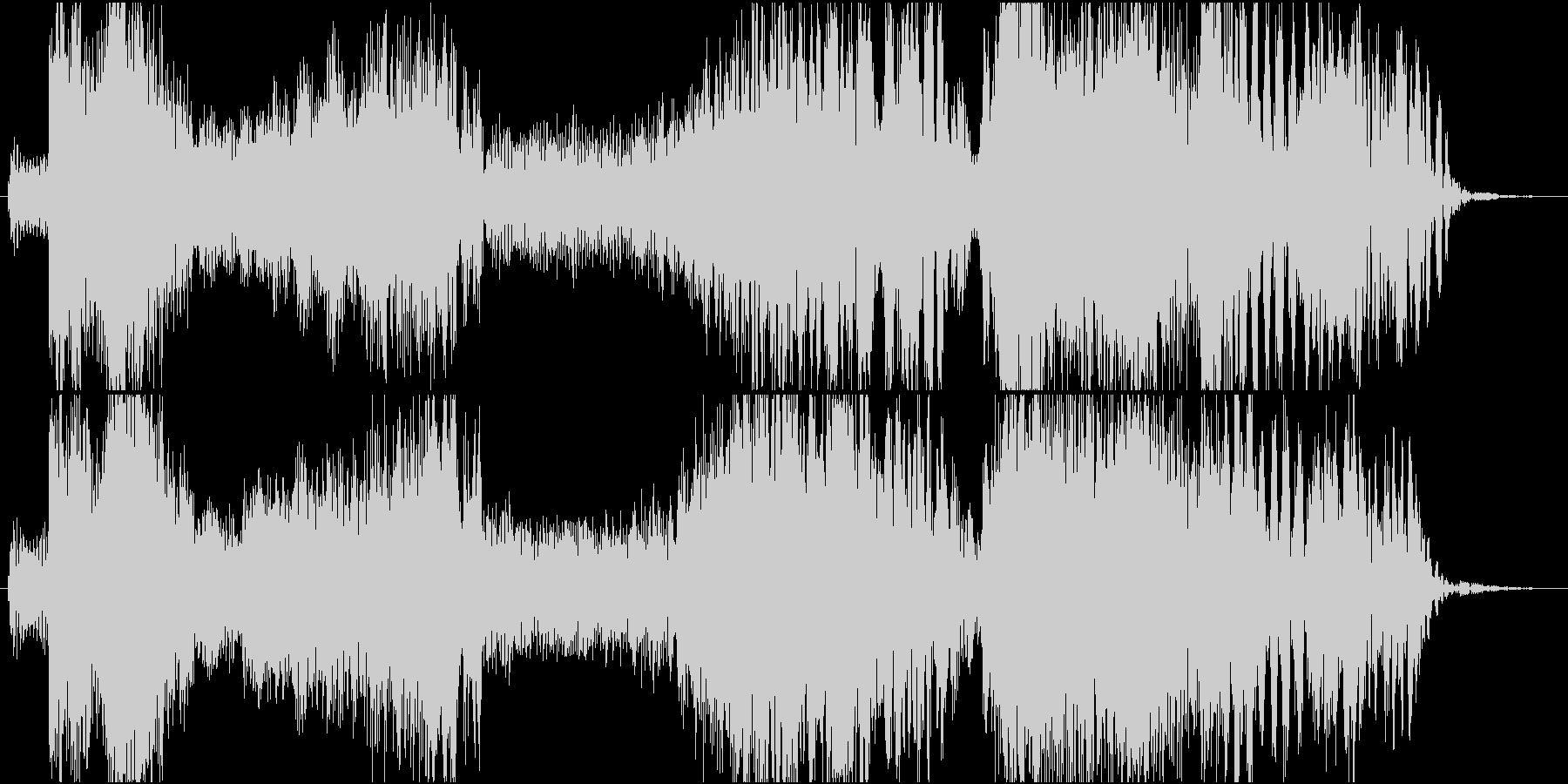 タイピング音を取り入れたジングルの未再生の波形