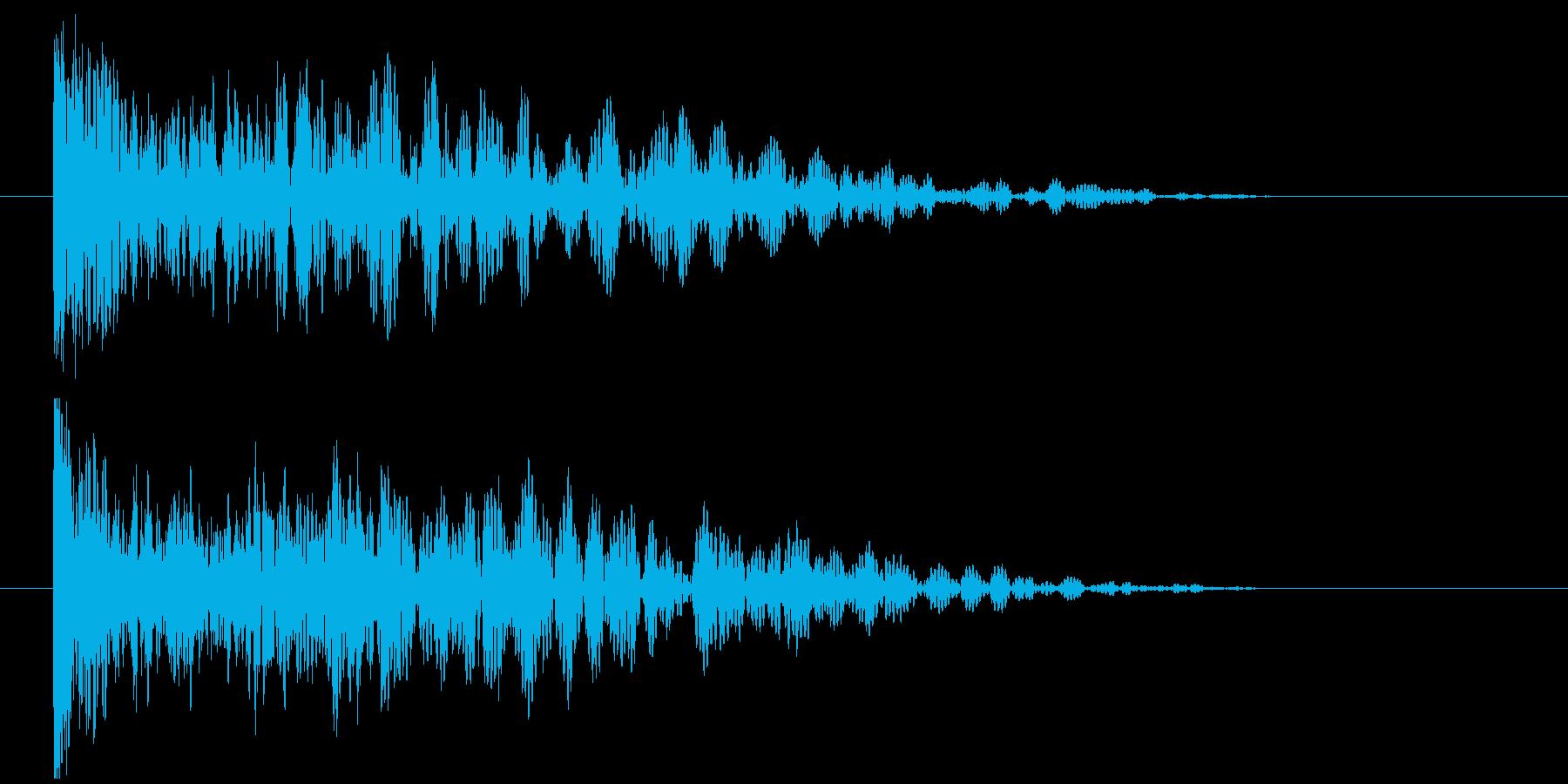 低音インパクトの再生済みの波形