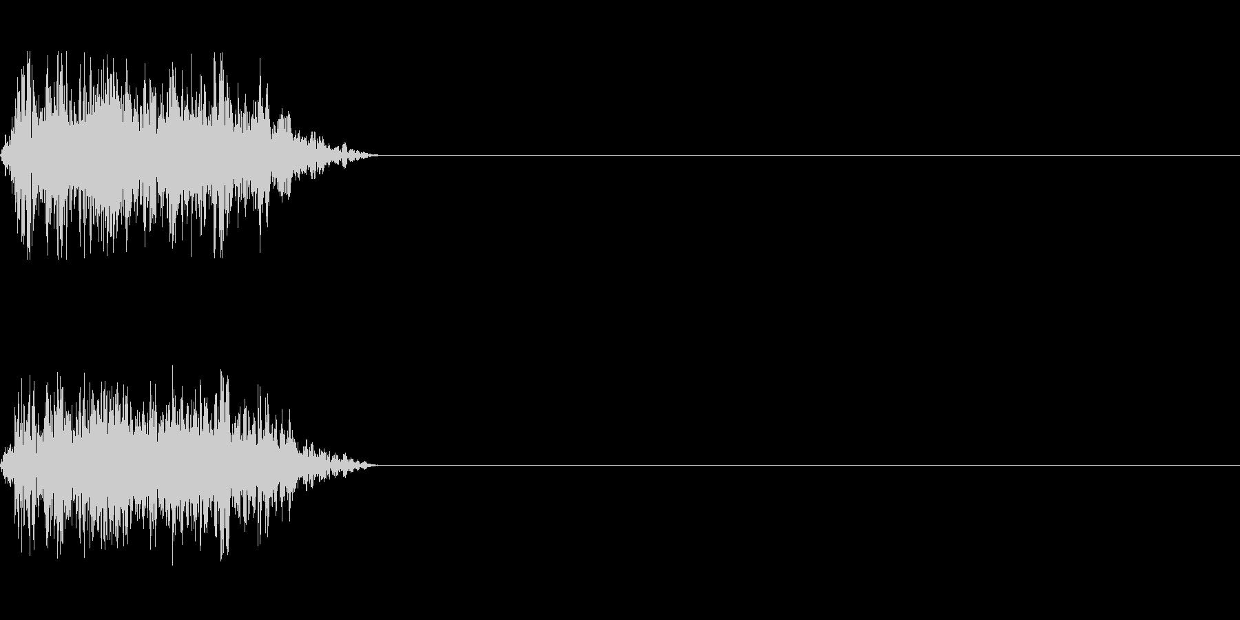 ビーム ワンショット12の未再生の波形
