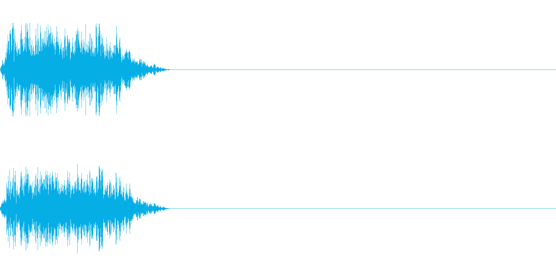ビーム ワンショット12の再生済みの波形