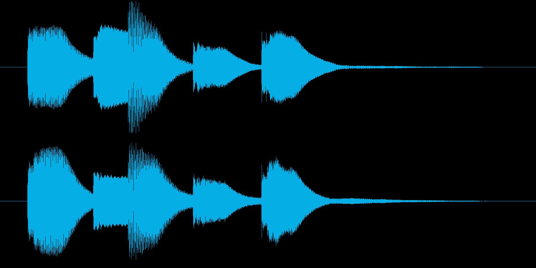 可愛い木琴の再生済みの波形