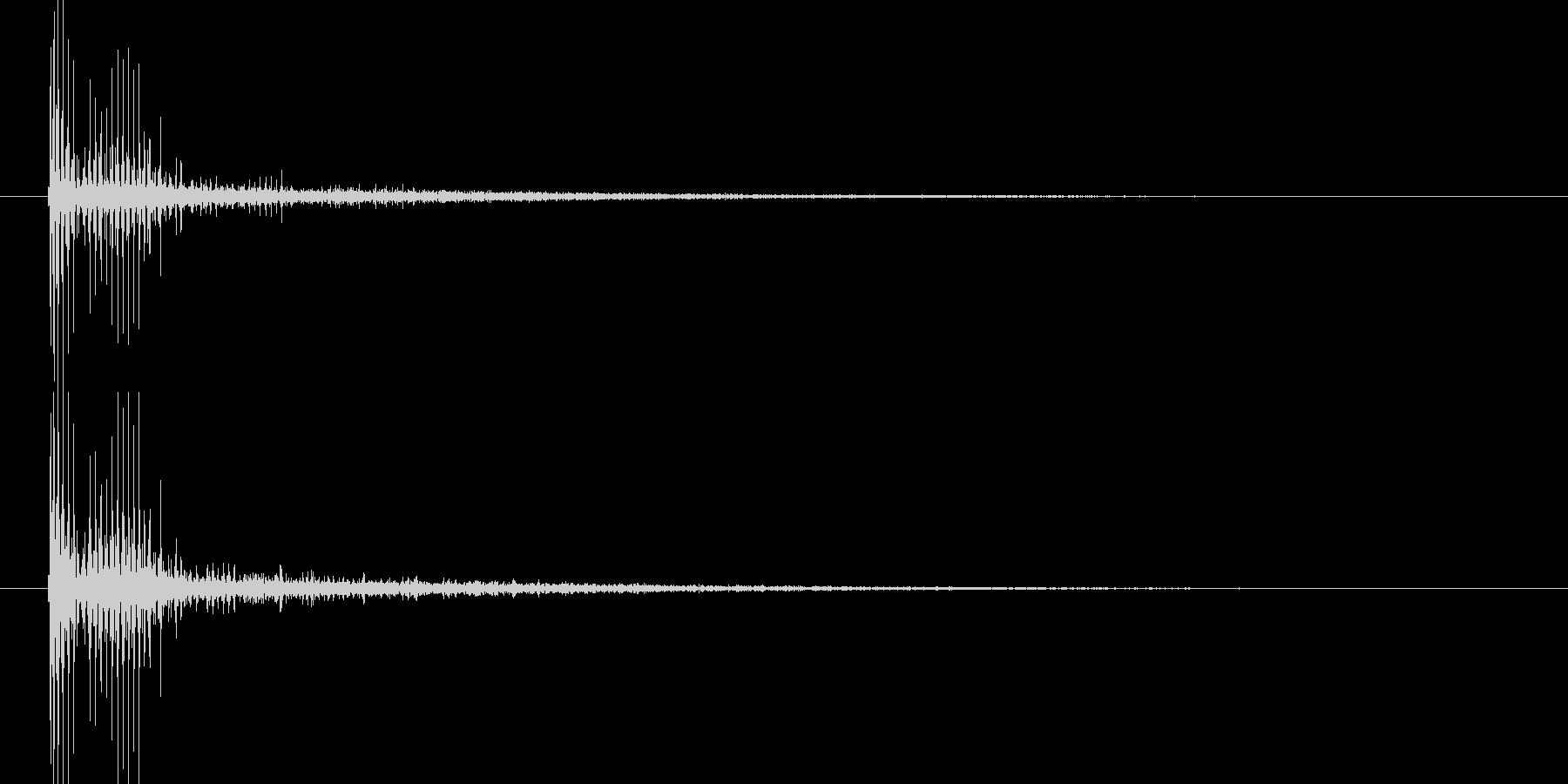 ブーッ(機械的なビーム音)の未再生の波形