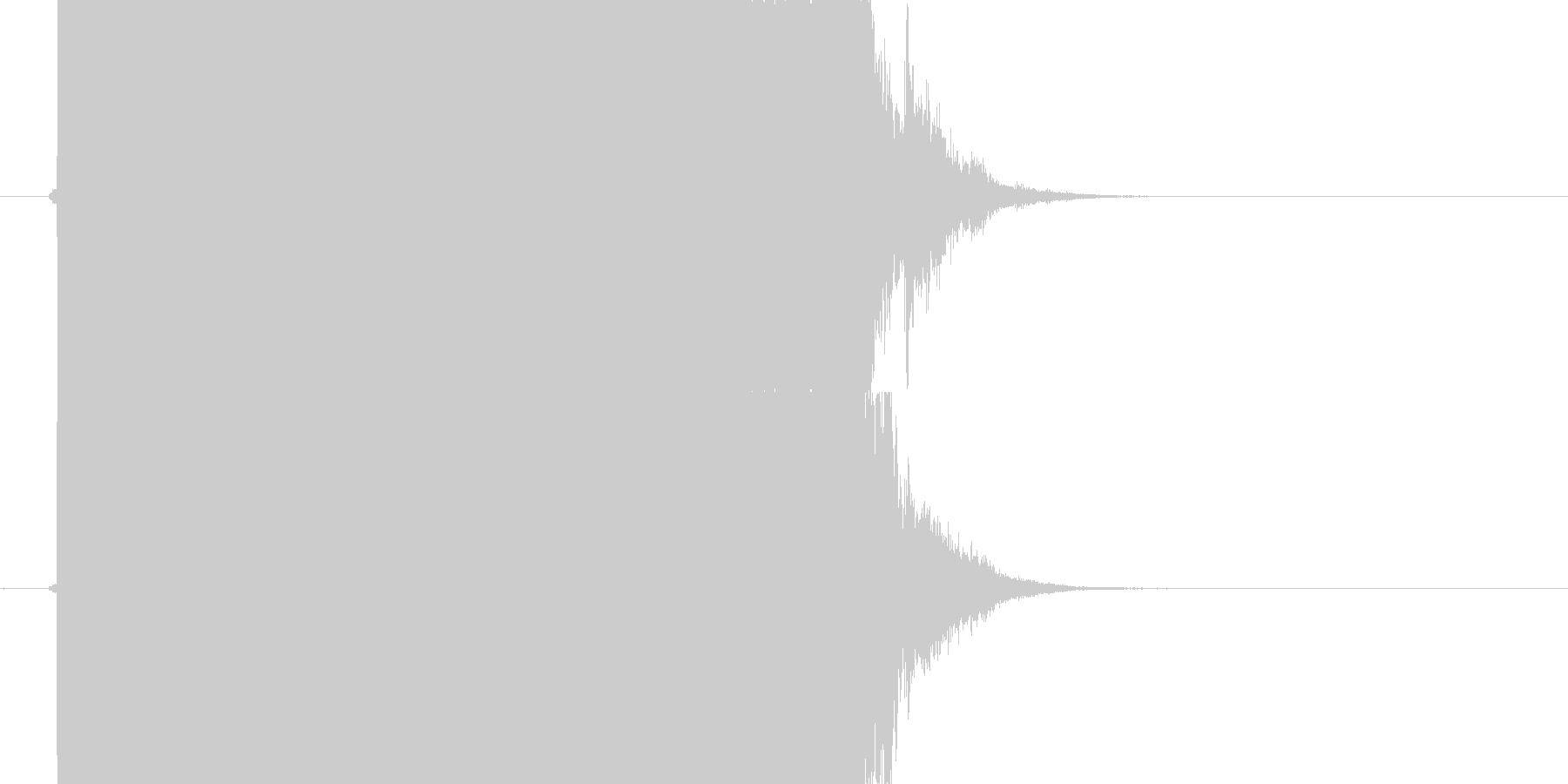 チェーンソー、電ノコ音の未再生の波形