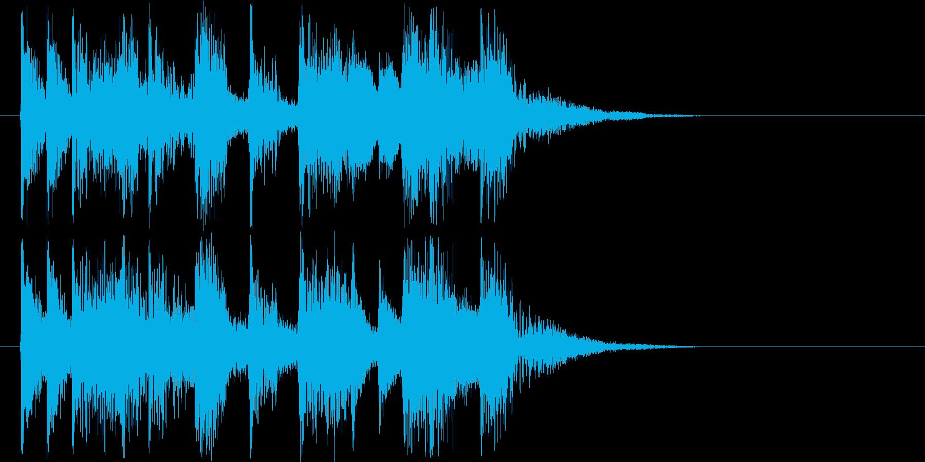 ジングルに最適なエレクトリックサウンドの再生済みの波形