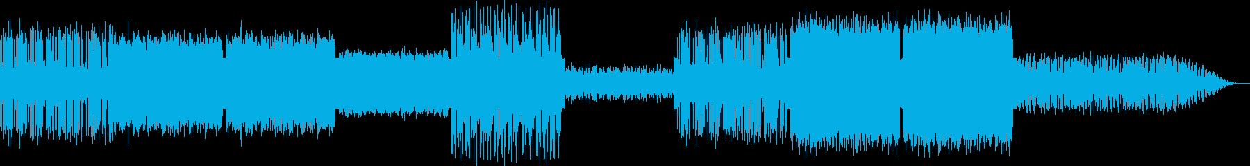 モダンなテクノの再生済みの波形